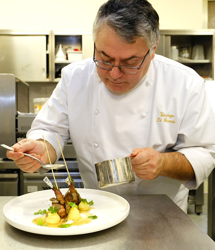 Vincenzo Di Grande, lo chef del Ristorante Rosa Croce di Parma